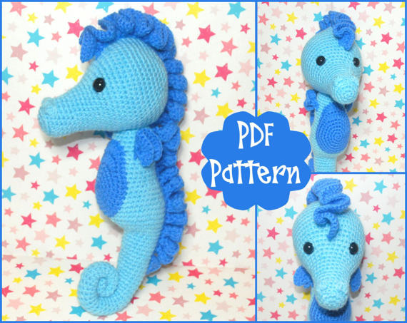 Charly Seahorse - the pattern - Cinnamon Purl | 453x570