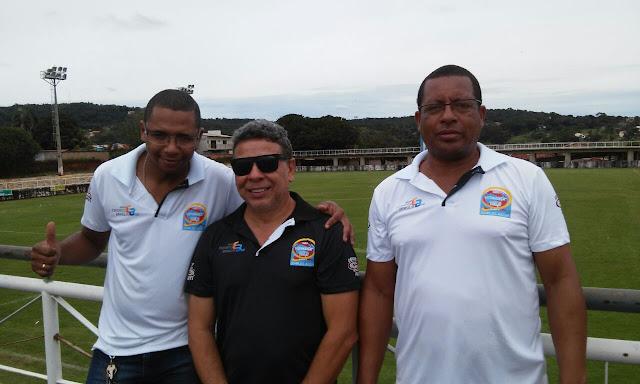 Equipe A Voz do Esporte em Pirenópolis, cobrindo mais uma vitória do selecionado de Águas Lindas