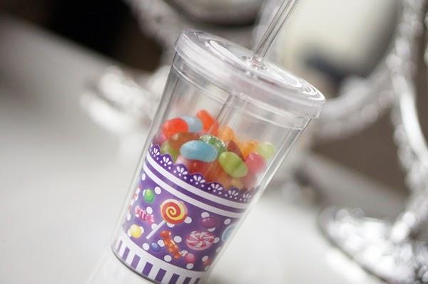 Glitter beker voor je smoothies maken