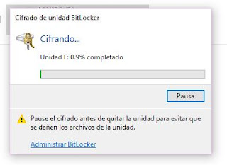 Cifrando pendrive con bitlocker en Windows 10