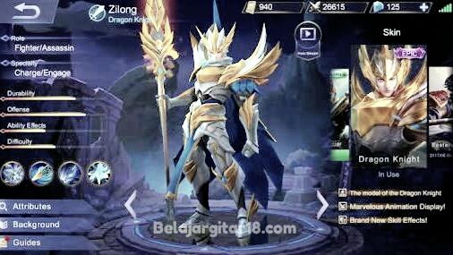 Zilong mobile legend
