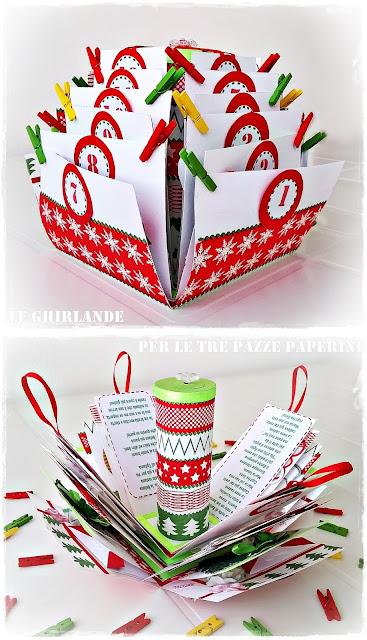 explosion box natale riciclando tovaglioli di carta