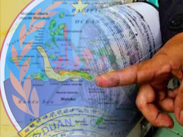 Gempa Bumi 5.5 SR Guncang Utara Kepulauan Tanimbar