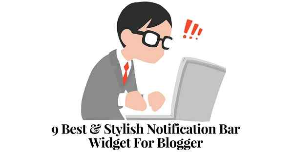 Notification Bar Widget For Blogger