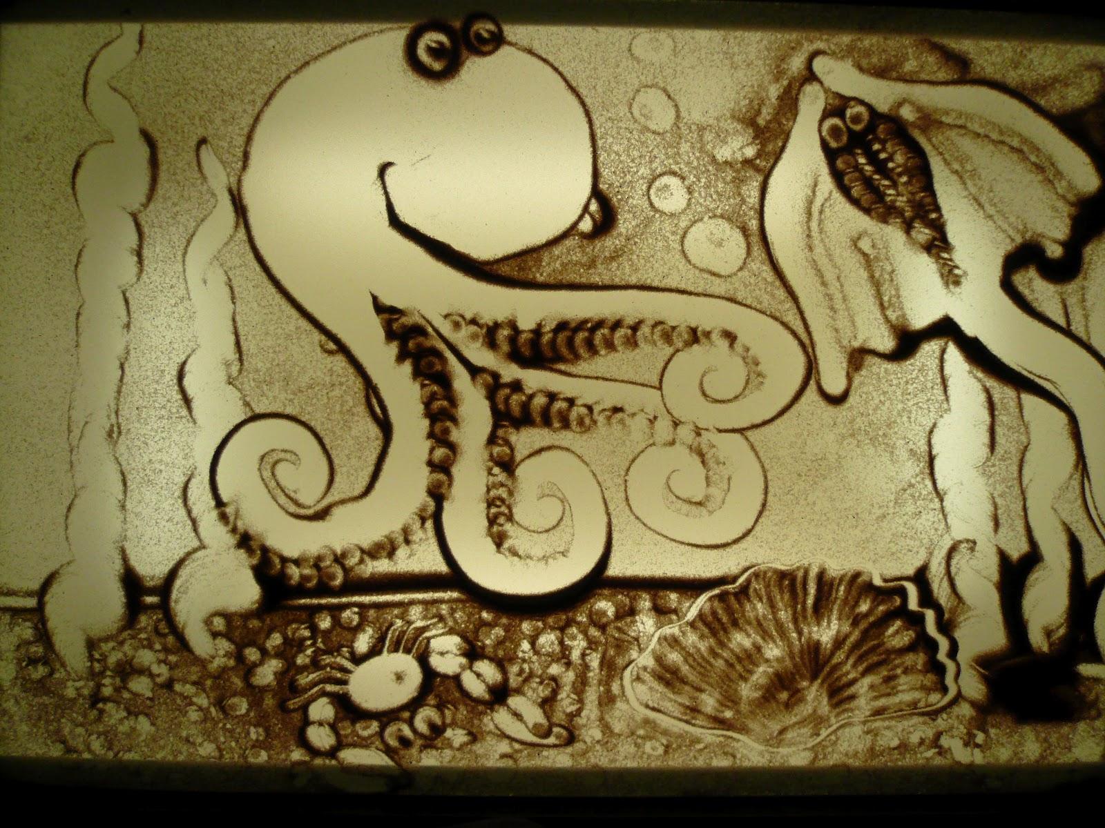 Легкие рисунки песком
