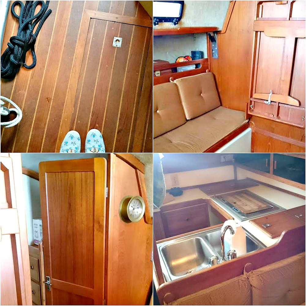 Interior photos of Ticon 30 Sailboat | photo by @danslelakehouse