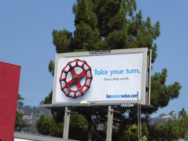 Take your turn California drought awareness billboard