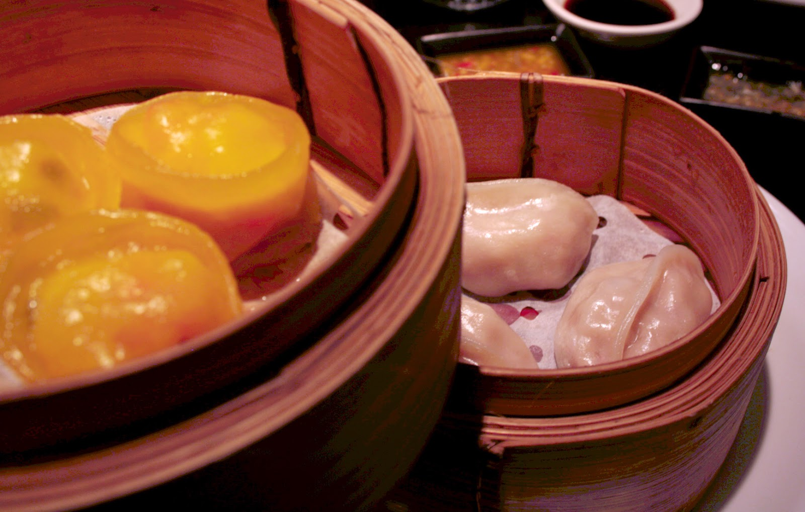 Steamed dumplings from Ping Pong dim sum