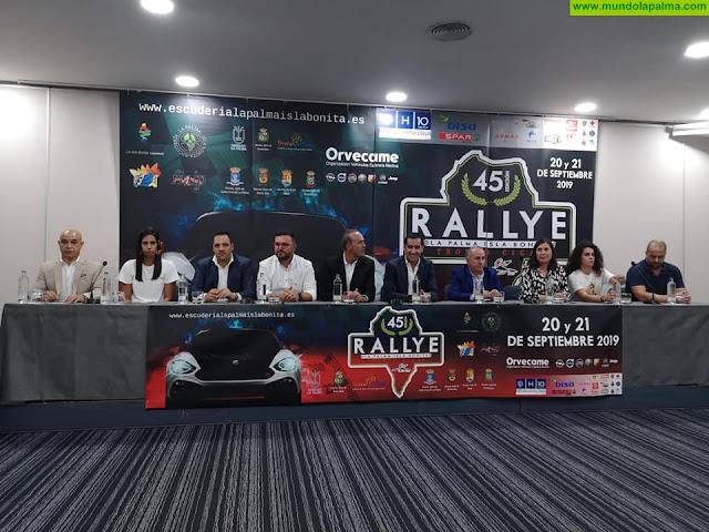 Presentada la 45 edición del Rallye La Palma Isla Bonita en el Hotel H10 Taburiente