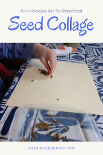 Seed Collage: Fun Process Art for Preschool