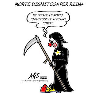 riina, cassazione, morte dignitosa, diritti dei detenuti, satira, vignetta