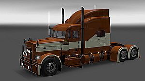Brown & Beige skin for Peterbilt 389