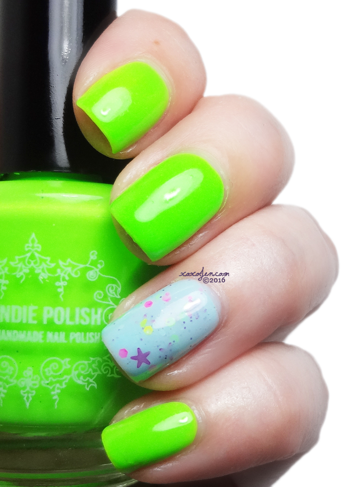 xoxoJen's swatch of My Indie Polish Neon Lime