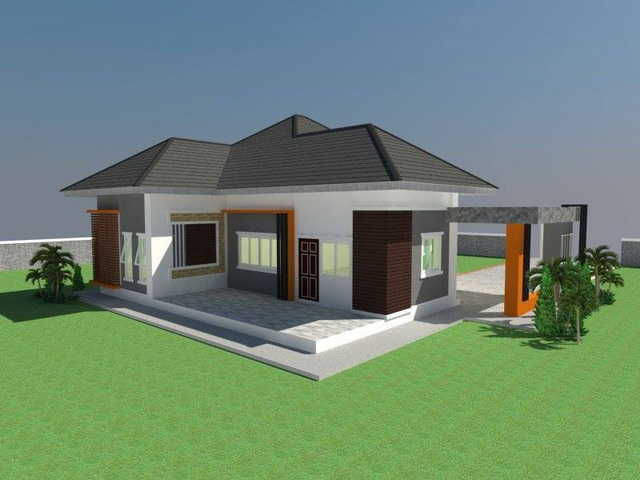 Bungalow is a classic and traditional family house. Today, we are showing you three bungalows you can choose from in case you're overwhelmed with all the choices out there. These 3 bungalow house consists of 2-3 bedrooms, 2-3 bathrooms, 1 living room, 1 kitchen, and the living area is more than 90 sq.m.  Let's take a look.