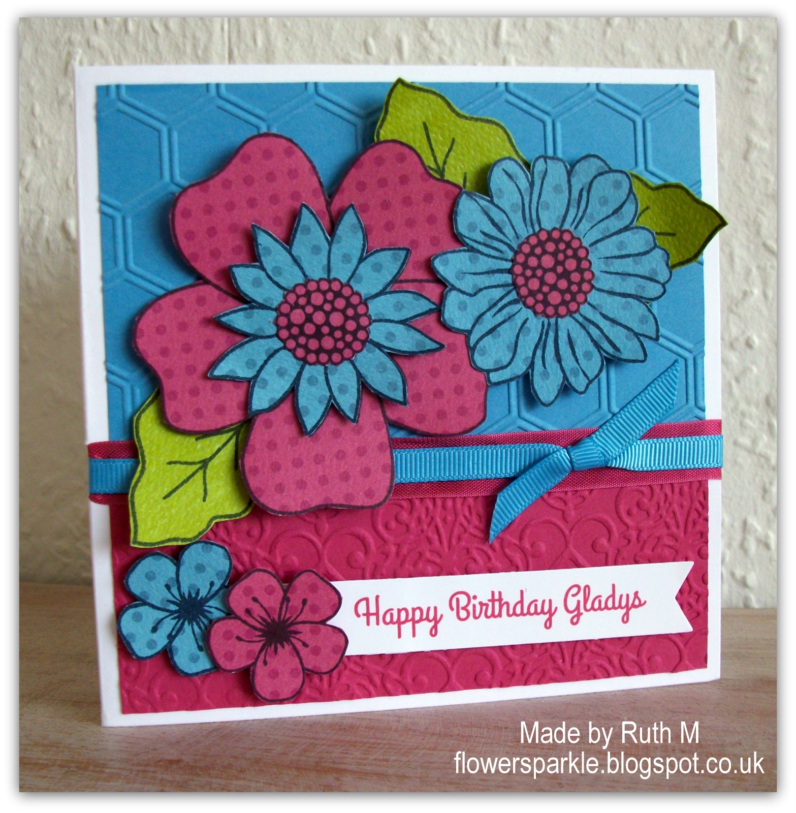 Flower sparkle dotty flowers happy birthday card dotty flowers happy birthday card izmirmasajfo