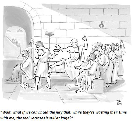 Image result for new yorker socrates cartoon