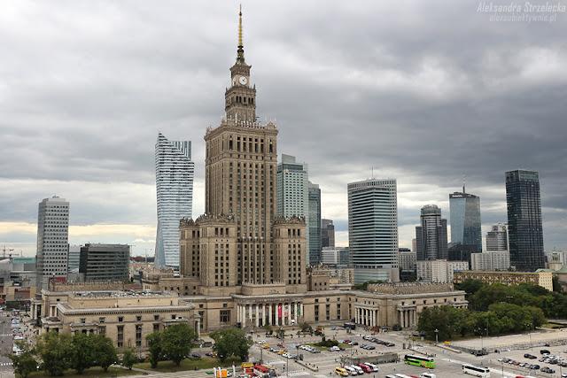 Warszawa - Pałac Kultury, wieżowce - Plac Defilad