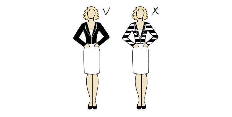 wzór żakietu dla figury o szerokich ramionach