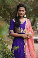 Actress Shraddha Srinath in Purple Chania Choli Cute Pics ~  Exclusive 38.jpg