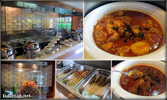 Indian cuisine and Malaysian satay at Cinnamon Coffee House One World Hotel