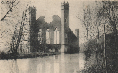 Filature Levavasseur sur l'Andelle - Fontaine-Guérard - point de vue peu habituel, à cause des arbres