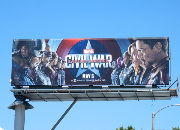 Captain America Civil War movie billboard