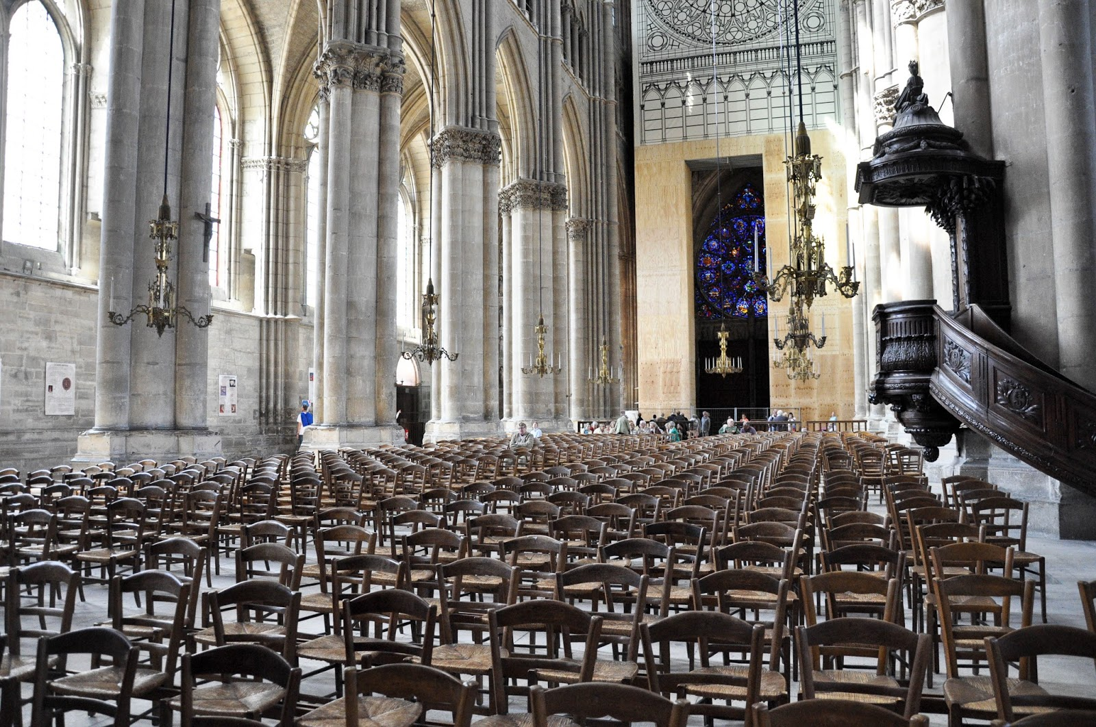 Chairs, Reims Cathedral, Reims, France
