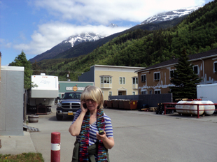 Brenda Wilbee talking to son Blake from Skagway AK