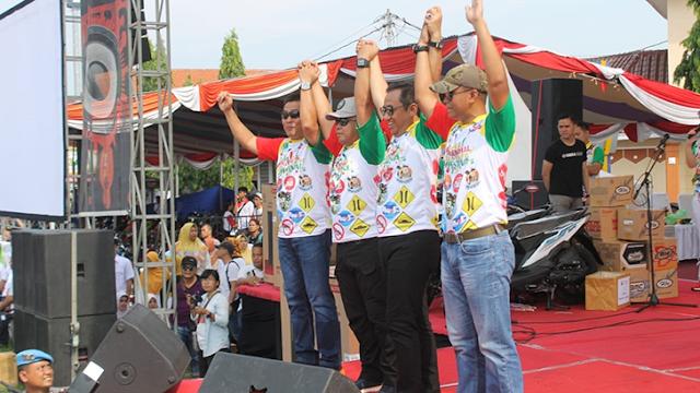 Dandim Cilacap Ikut Meriahkan Festival Police Expo dan Bazaar Milenial