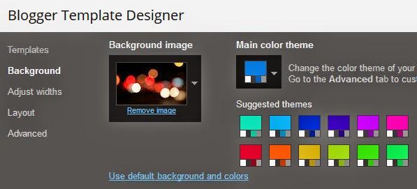 Blogger Template Designer - Background Customization