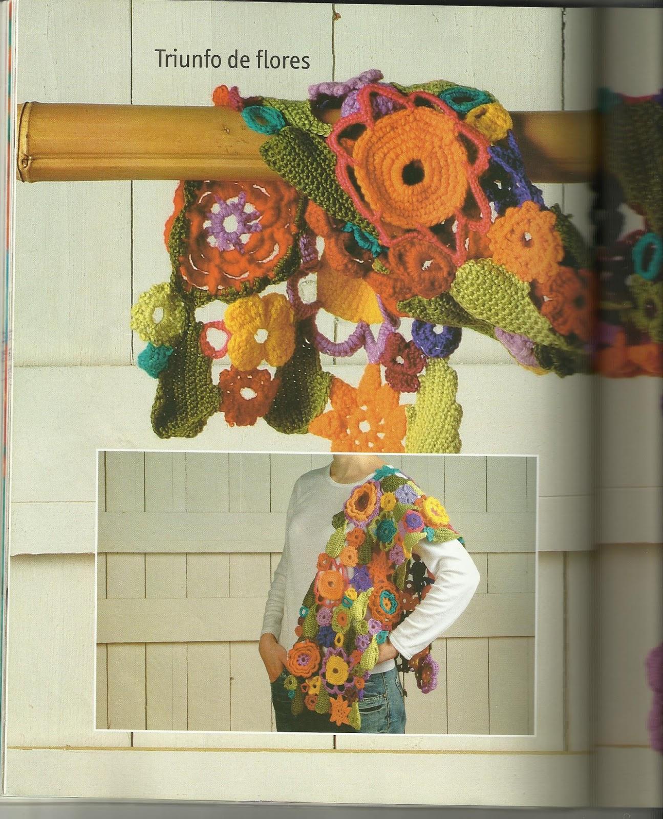 El Color Arco Iris Chal De Flores Y Hojas