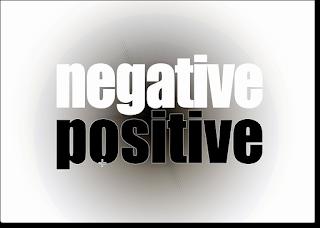 negative sits on positive