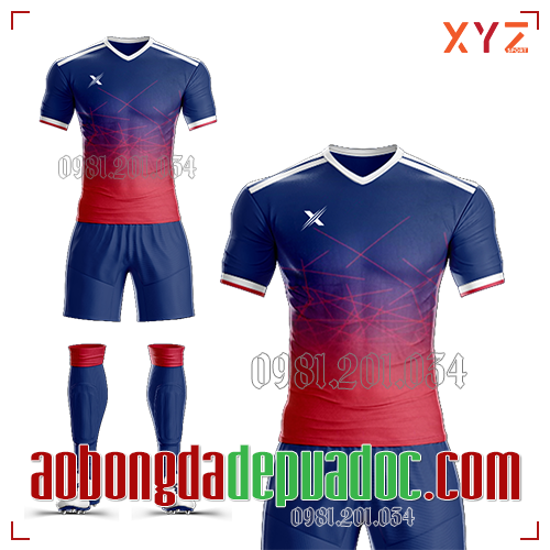 Áo Ko Logo XYZ-02 Màu Đỏ Tím