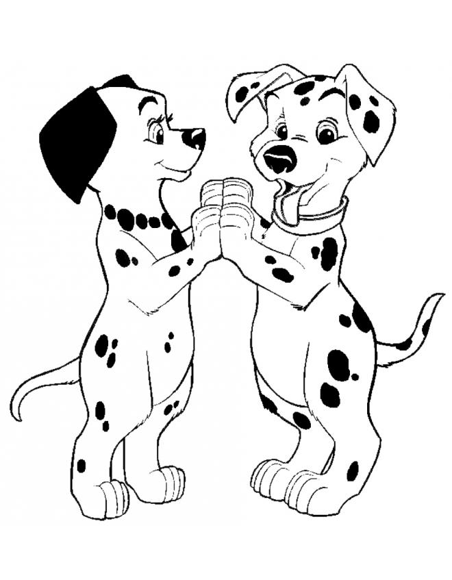 immagini di cani da colorare