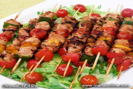 شيش طاووق الخضروات - مطبخ منال العالم