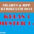 Silabus dan Rpp Kelas 1 SD Tematik Revisi 2016