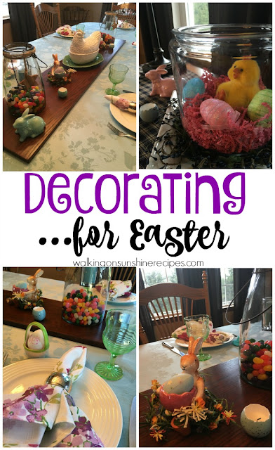 Setting the table is one of my favorite things to do when entertaining.  Today we're preparing for Easter and Setting the Table from Walking on Sunshine Recipes.