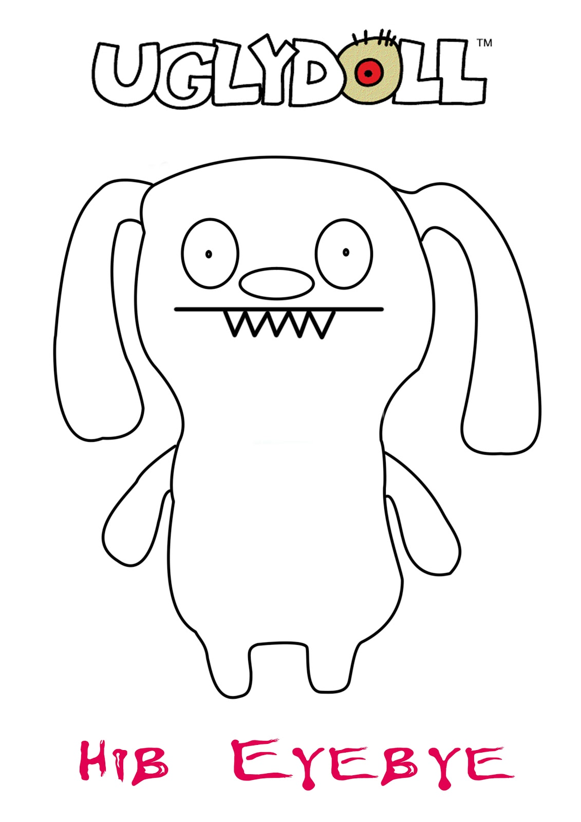 Ugly Doll Coloring Pages
