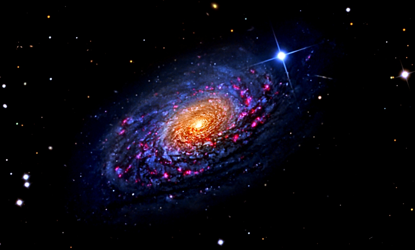 UFO WORLD: NASA Images M63 The Sunflower Galaxy