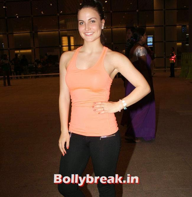 Elli Avram, Elli, Deepika, Kangana Arrive Back From IIFA