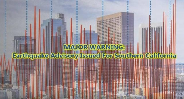 One Week Warning: Official Earthquake Advisory Issued For Southern California  Earthquake%2Bwarning