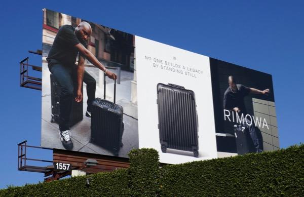 Rimowa designer luggage billboard