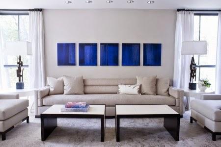 Diseños de salas en color azul - Ideas de salas con estilo