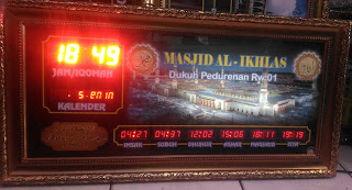 Jam Digital Masjid Running Text Ponorogo