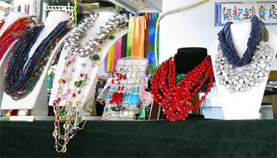 beads and balls necklaces from Bogyoke Market Yangon