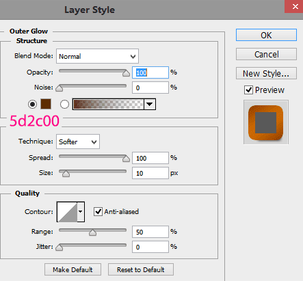 Outer-glow-settings-for-first-text-layer