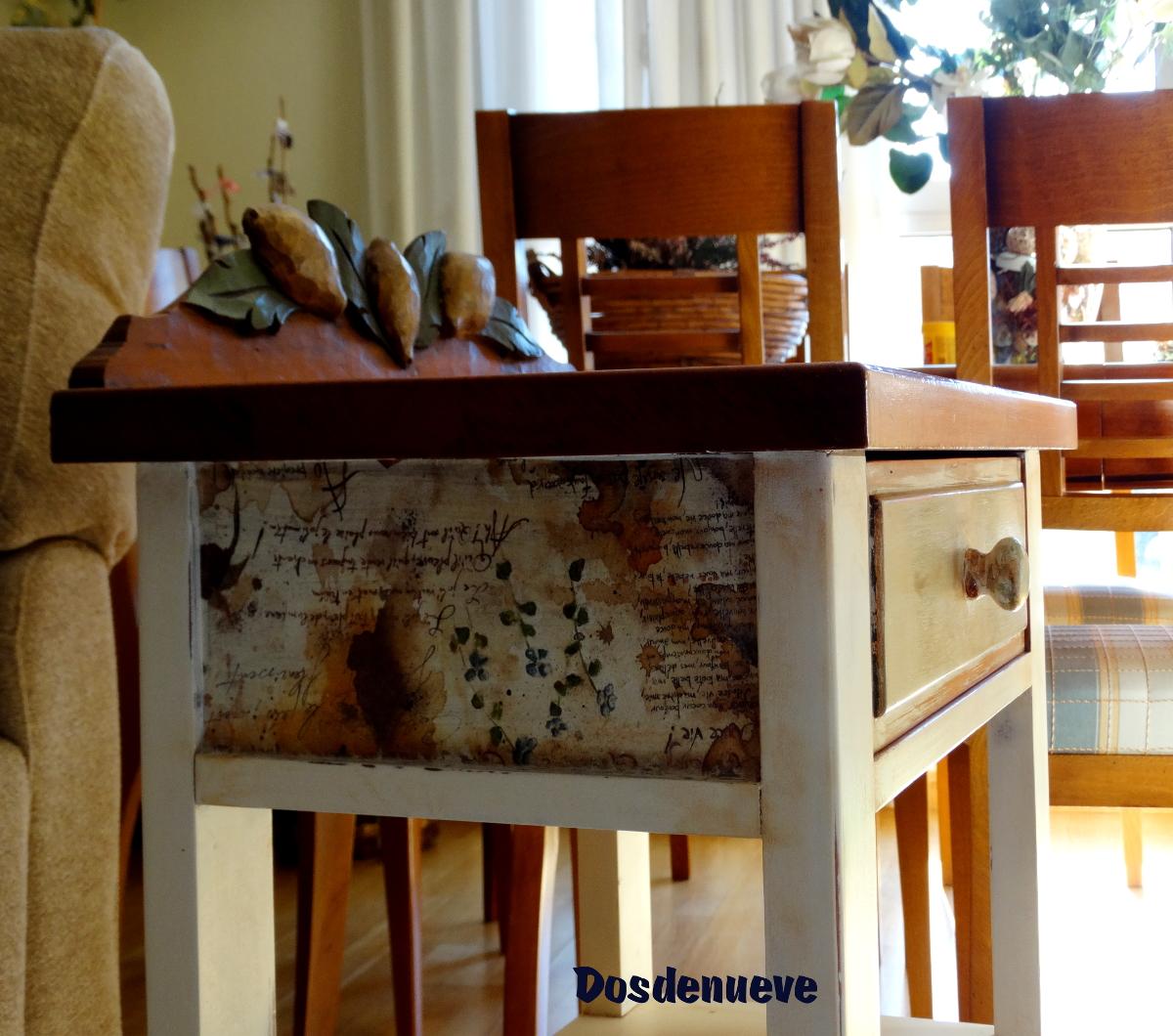 Pintar una mesilla con pintura a la tiza - Mesas pintadas a la tiza ...