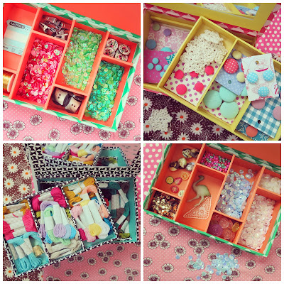 ByHaafner, storage boxes for haberdashery, sequins, embroidery thread, buttons