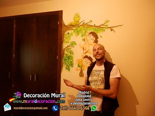 murales infantiles madrid Duendes decoración dormitorio bebé