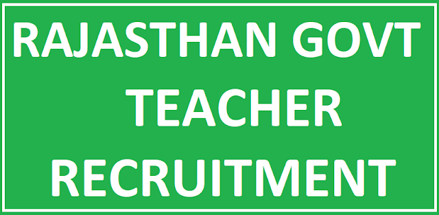 Rajasthan Govt Recruitment